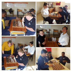 Disabled learners playing chess