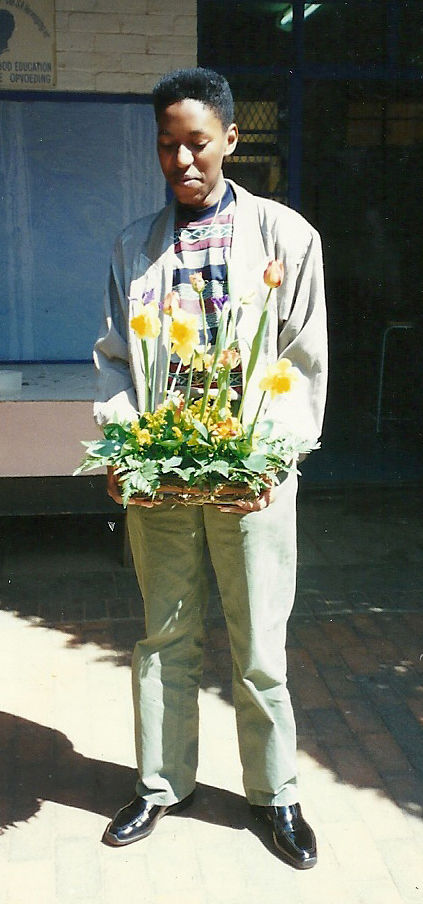 Learning how to arrange flowers - 1991