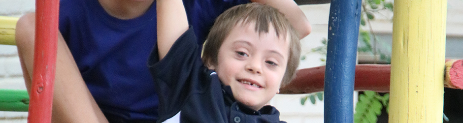 Young boy with Down Syndrome