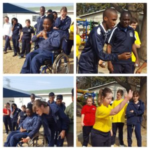 Disabled learners doing sport