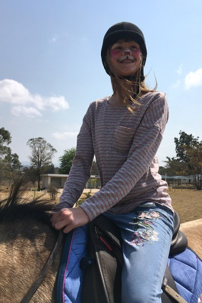 Stephanie loved the horse riding
