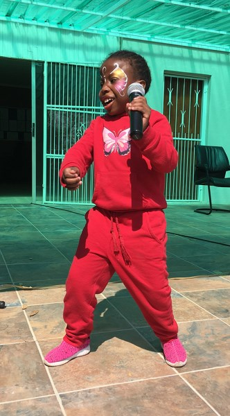 Thobeka showing off her dance moves