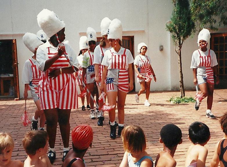 Drum majorettes at the Cedar Road premises